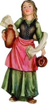 Krippenfiguren Magd handbemalen geeignet f/ür 13cm Figuren