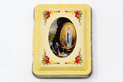 Lourdes Apparition Rosary Box or Pill Box & Lourdes Prayer ()
