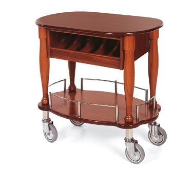 Lakeside Geneva Veneer Bordeaux Finish Serving Cart, 17 3/4 x 35 1/2 x 29 inch -- 1 ()