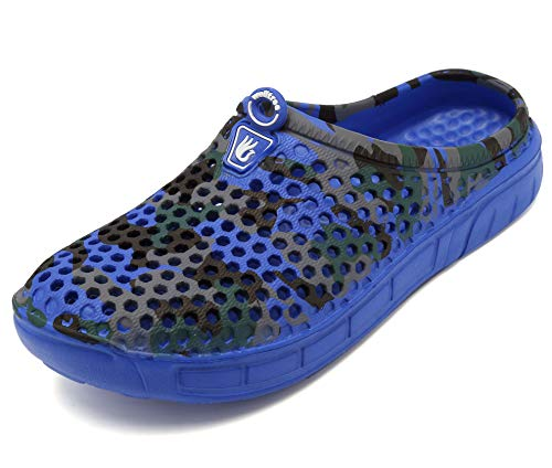 welltree Unisex Women's Men's Garden Clog Shoes Quick Drying Slippers Sandals 6.5 Men / 8.5 Women CamoBlue/40 (Best Price On Mulch)