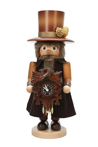 German Christmas Nutcracker Blackforest Clockmaker natural colors - 41,5 cm / 16 inch - Christian Ulbricht