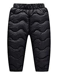 Happy Cherry Baby Boys Girls Windproof Down Pants Lightweight Snow Pants