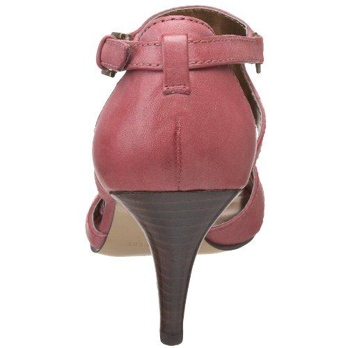 NINE WEST - Sandalia De La Correa Del Tobillo Para Mujer NWLESTYLE DARK RED Tacón: 8 cm