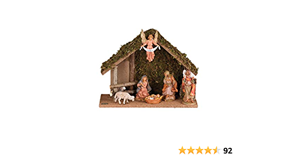 Realistic Hand Painted 7 Piece Nativity Set with LED USB Stable Fontanini USB Plug Gift Boxed 5 Scale Nativity Figure Collection Detailed