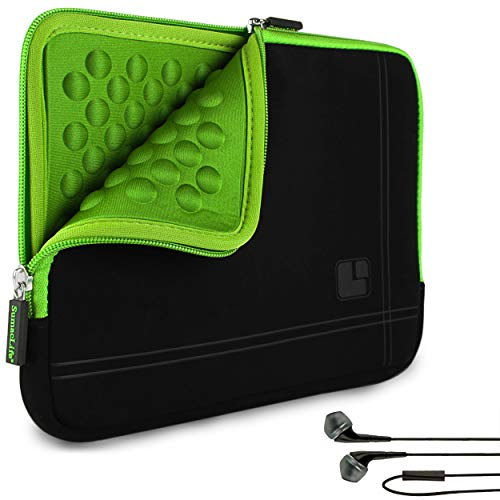 SumacLife Green Bubble Padded Shock Absorbent Tablet Sleeve with In-Ear...