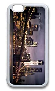 MOKSHOP Adorable brooklyn bridge Soft Case Protective Shell Cell Phone Cover For Apple Iphone 6 (4.7 Inch) - TPU White wangjiang maoyi