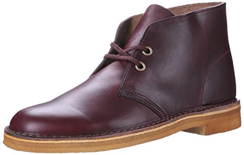 Men's Leather Wine Desert Boot Clarks Originals vx67865