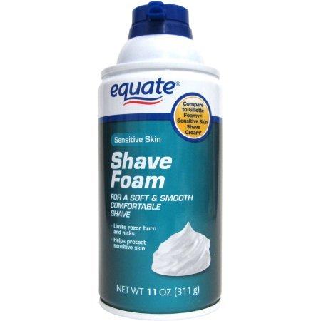 Equate Men's Shave Foam, Sensitive, 11 oz, 12pck
