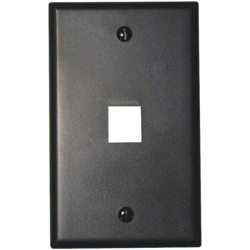 (Leviton QuickPort Flush Mount Wall Plates - 1-Port, Black)