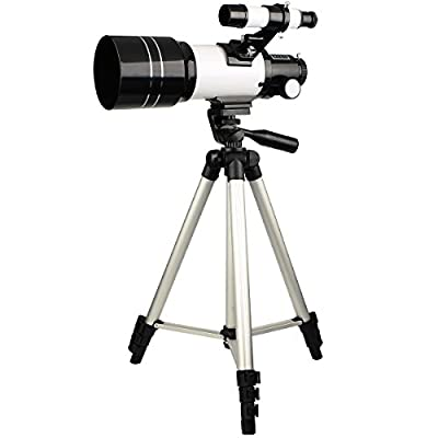 SVBONY 70mm Refractor Astronomical Telescope for Entry Level Amateur Astronomers Children Teens Beginners to Explore Land and Sky with Tripod by SVBONY