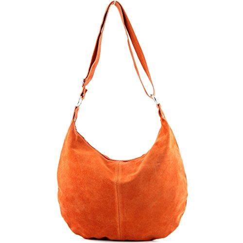 modamoda de - Made in Italy - Bolso al hombro para mujer ver descripción naranja