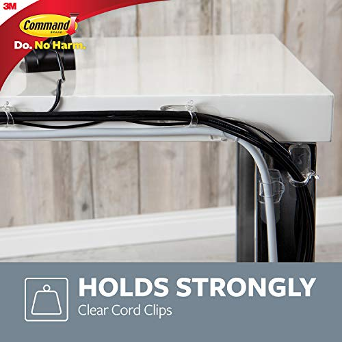 Command Clear Cord Clips