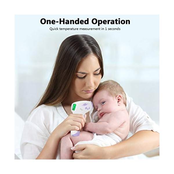 Homgrace Termómetro Frontal de Bebe Niños, lecturas precisas instantáneas, termómetro Digital infrarrojo sin Contacto Profesional, para bebés, niños, Adultos 8