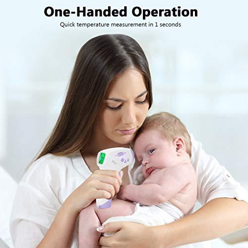 FlowerDas Termómetro Frontal de Bebe Niños, lecturas precisas instantáneas, termómetro Digital infrarrojo sin Contacto Profesional, para bebés, niños, Adultos 7