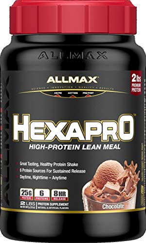 ALLMAX Nutrition Hexapro Protein Blend, Chocolate, 2 lbs