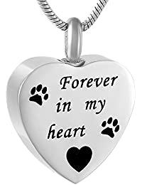 Engravable Heart Stainless Steel Cremation Jewelry Necklace
