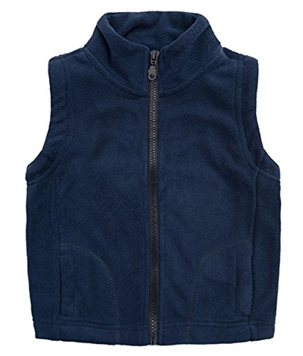 Aivtalk Boys Fleece Sleeveless Warmth Vests Outwear Waistcoat Blue Size L