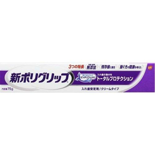 部分総入れ歯安定剤 新ポリグリップ トータルプロテクション (残存歯に着目) 40g B01N4V7HZP 40g  40g