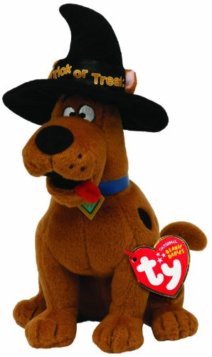 Ty Beanie Baby Scooby Doo With Witch Hat