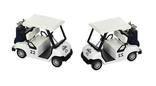 Toysmith (2 Pack) Bundle Savers! Mini Diecast Replica Golf Cart Set (Golf Trophy Replica)
