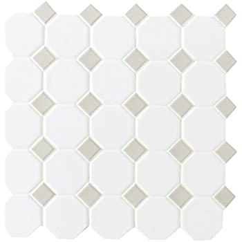 Dal Tile 6501 44 Octagon Tile Gray Gloss Dot X 11 13 16