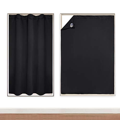 PONY DANCE Black Out Blinds - 51 by 78 inches Window Treatments Blakout Blinds Vertical Adjustable Portable Panels Light Block Shade with Suckers for Baby Nursery, 1 PC