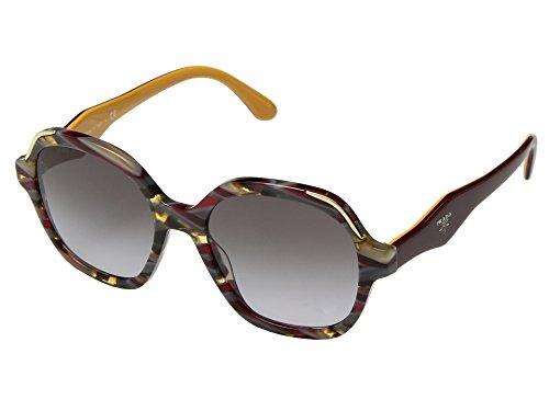 Prada Women's 0PR 06US Zigzagged Havana/Bordeaux/Yellow/Grey Gradient One - Sunglasses Yellow Prada