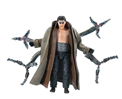 Amazoncom Spider Man 2 Doc Ock With 4 Bendy Tentacles Action