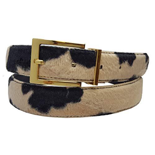 Vegan Faux Fur Belt In Animal Print