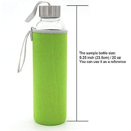 Kvvdi - Juego de 8 fundas de neopreno para botellas, con aislamiento de vidrio, 354,88 - 768,91 ml: Amazon.es: Jardín