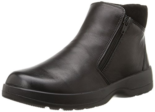 Naot Women's Lynx Boot, Black Raven Leather/Black Suede, 37 EU/6-6.5 M US by NAOT