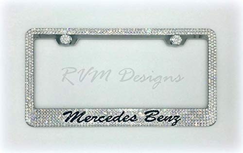 Mercedes License Plate Frame made with Swarovski Crystals - Mercedes Car Jewelry ()