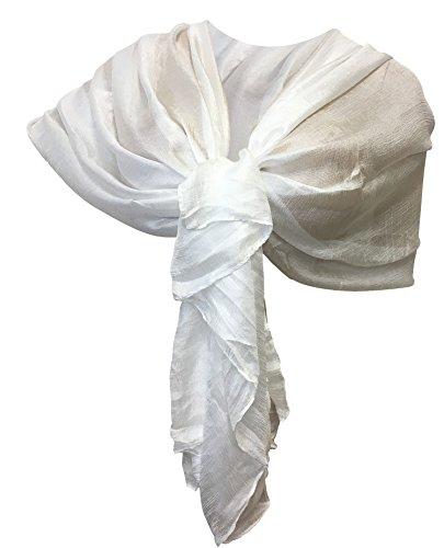 LTP Elegante Sciarpa Scialle Brillante Foulard,da Donna Ragazza Coprispalle Stola Cerimonia in 10 Colori Tinta Unita