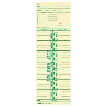 Amazoncom TOP12533 TOPS Payroll Calculation Time Card by Tops