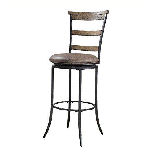 Hillsdale Furniture Charleston 46-Inch Ladder Back Swivel Bar Stool, Desert Tan (Charleston Swivel Ladder)