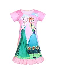 LQSZ Girls Nightgown Princess Dress Princess Dresses for Girls Girls Dresses Pajamas for Girls