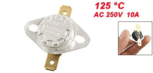 DealMux KSD301 AC 250V 10A 125 Celsius NC Térmica TERMÓSTATO - - Amazon.com