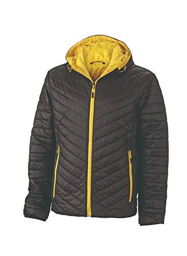 Sorona® Men's In Con Reversibile Jacket Giacca yellow Ovatta Black Dupont™ Imbottitura Leggera Lightweight HU8aq0w