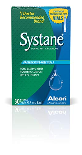 - Systane Long Lasting Lubricant Eye Drops Vials Eye Drops, 30 Count, 0.7-mL Each