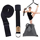 Leg Stretcher, Door Flexibility & Stretching Leg Strap Stretch Band with Carrying Pouch for Yoga, Ballet, Dance and Gymnastic Exercise