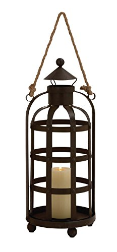 Global Accents Hemp (Deco 79 14815 Metal Rope Candle Holder 9