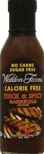 Sauce No Bbq Carb (Walden Farm - No Carbs, Sugar-Free, Calorie-Free Thick & Spicy Barbeque Sauce - 12-oz. Bottle by Walden Farms)