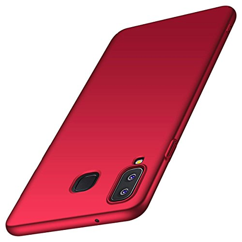 Price comparison product image Designed for Samsung Galaxy M20 Case Slim Hard PC Bumper Shockproof Protective Cover (Red)