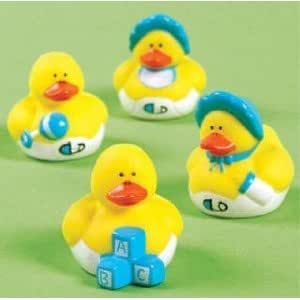 Fun Express Vinyl Mini Baby Shower Rubber Duckies - 24 Pieces