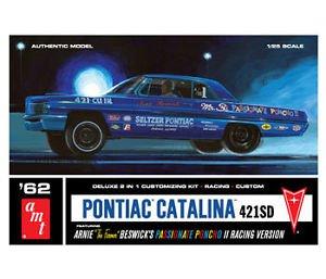 #623 AMT '62 Pontiac Catalina 421SD, Arnie Beswick's Passionate Poncho II 1/25 Scale Plastic Model Kit, Needs Assembly