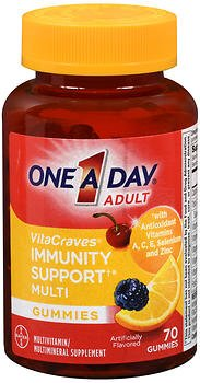One-A-Day VitaCraves Adult Immunity Support Multi Gummies - 70 Gummies, Pack of 2 (One A Day Bayer)