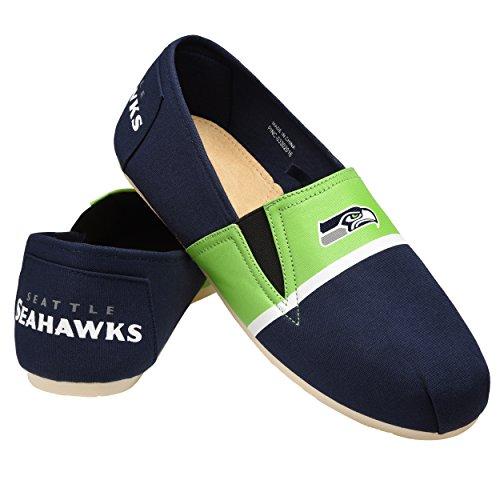 NFL Seattle Seahawks Men's Canvas Stripe Shoes, Large (11-12), Green