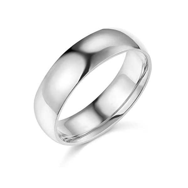 14k Yellow or White Gold 6mm COMFORT FIT Plain Wedding Band - 41E885wDPBL - 14k Yellow or White Gold 6mm COMFORT FIT Plain Wedding Band