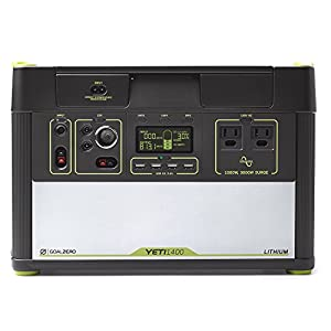 41E88f7JB0L. SS300  - Goal Zero Yeti 1400 Lithium Portable Power Station 1425Wh Silent Gas Free Generator Alternative with 1500 Watt (3000 Watt Surge) AC inverter, USB, 12V Outputs
