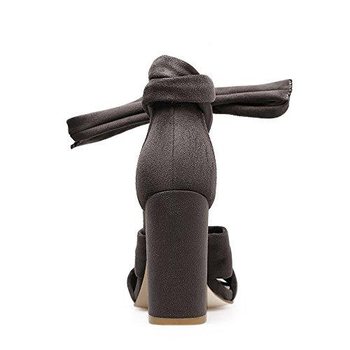 nuova spessore con tacco alto ZHZNVX raso cinturini nero estate 39 sandali di La di Ugq5gA